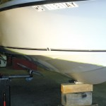 Boat being prepped for painting
