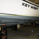 Boat before its was prepped for painting